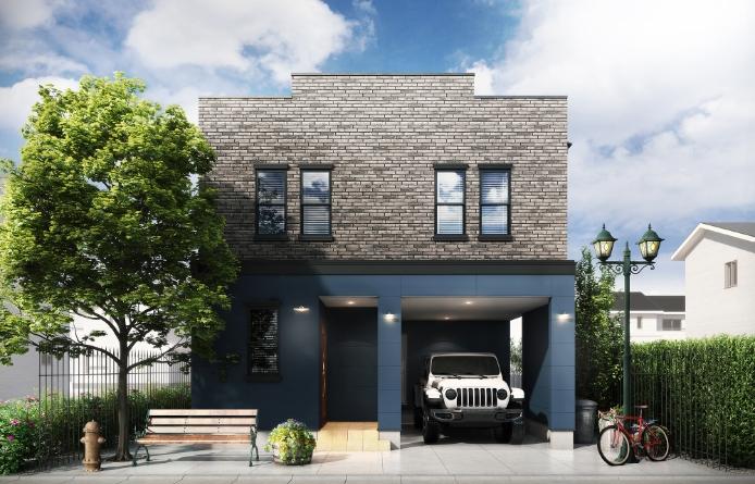 ガレージのある家