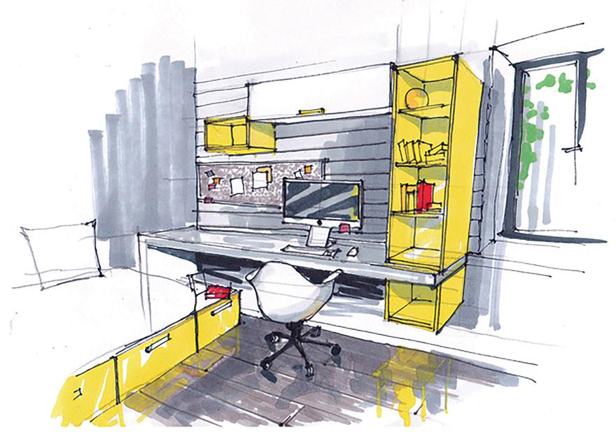 ビルトインガレージのあるインダストリアルデザインの家